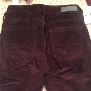 Calvin Klein Burgundy Pants Sz 4